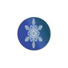 Snow Flake Crystal Snow Winter Ice Golf Ball Marker by Onesevenart