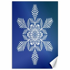Snow Flake Crystal Snow Winter Ice Canvas 12  X 18   by Onesevenart