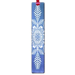 Snow Flake Crystal Snow Winter Ice Large Book Marks by Onesevenart