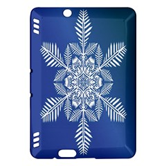 Snow Flake Crystal Snow Winter Ice Kindle Fire Hdx Hardshell Case by Onesevenart
