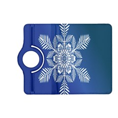 Snow Flake Crystal Snow Winter Ice Kindle Fire Hd (2013) Flip 360 Case by Onesevenart