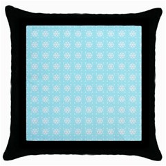 Snowflakes Paper Christmas Paper Throw Pillow Case (black) by Onesevenart