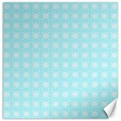 Snowflakes Paper Christmas Paper Canvas 16  X 16   by Onesevenart