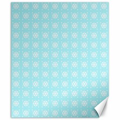 Snowflakes Paper Christmas Paper Canvas 20  X 24   by Onesevenart