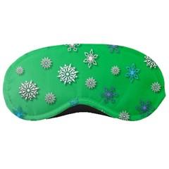 Snowflakes Winter Christmas Overlay Sleeping Masks by Onesevenart
