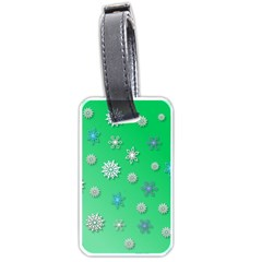 Snowflakes Winter Christmas Overlay Luggage Tags (one Side)  by Onesevenart