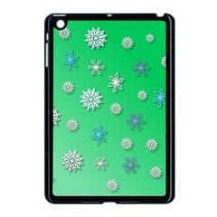 Snowflakes Winter Christmas Overlay Apple Ipad Mini Case (black) by Onesevenart