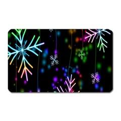 Snowflakes Snow Winter Christmas Magnet (rectangular) by Onesevenart