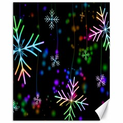 Snowflakes Snow Winter Christmas Canvas 16  X 20   by Onesevenart