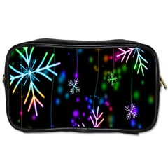 Snowflakes Snow Winter Christmas Toiletries Bags by Onesevenart