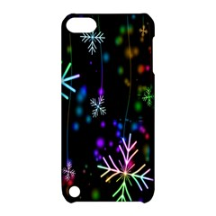 Snowflakes Snow Winter Christmas Apple Ipod Touch 5 Hardshell Case With Stand by Onesevenart