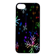 Snowflakes Snow Winter Christmas Apple Iphone 5s/ Se Hardshell Case by Onesevenart