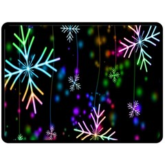 Snowflakes Snow Winter Christmas Double Sided Fleece Blanket (large)  by Onesevenart