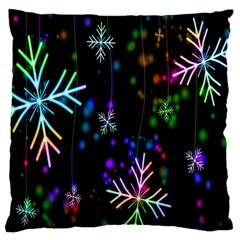 Snowflakes Snow Winter Christmas Standard Flano Cushion Case (two Sides) by Onesevenart