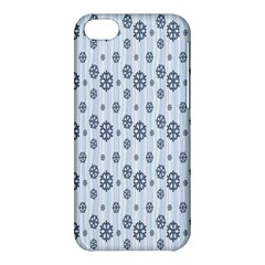 Snowflakes Winter Christmas Card Apple Iphone 5c Hardshell Case by Onesevenart