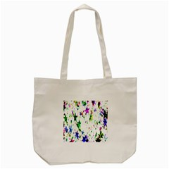 Star Abstract Advent Christmas Tote Bag (cream) by Onesevenart