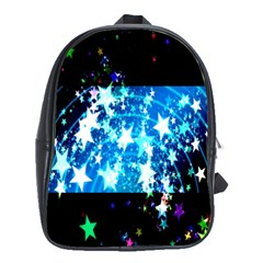 Star Abstract Background Pattern School Bag (large) by Onesevenart