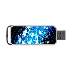 Star Abstract Background Pattern Portable Usb Flash (two Sides) by Onesevenart