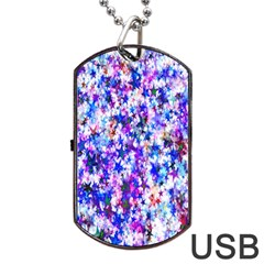 Star Abstract Advent Christmas Dog Tag Usb Flash (two Sides) by Onesevenart