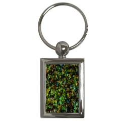 Star Abstract Advent Christmas Key Chains (rectangle)  by Onesevenart
