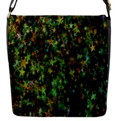 Star Abstract Advent Christmas Flap Messenger Bag (s) by Onesevenart