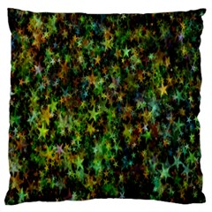 Star Abstract Advent Christmas Large Flano Cushion Case (one Side) by Onesevenart