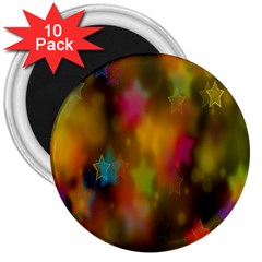 Star Background Texture Pattern 3  Magnets (10 Pack)  by Onesevenart