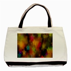 Star Background Texture Pattern Basic Tote Bag (two Sides) by Onesevenart