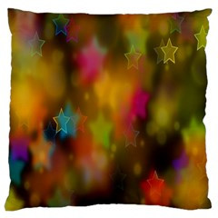 Star Background Texture Pattern Large Cushion Case (one Side) by Onesevenart