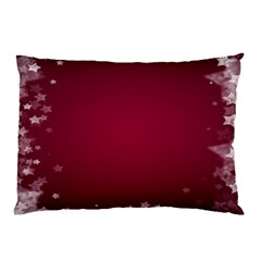 Star Background Christmas Red Pillow Case (two Sides) by Onesevenart