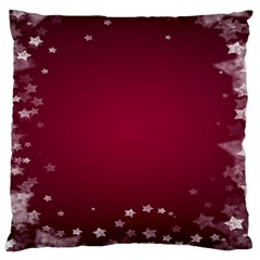 Star Background Christmas Red Large Cushion Case (two Sides) by Onesevenart