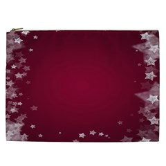 Star Background Christmas Red Cosmetic Bag (xxl)  by Onesevenart