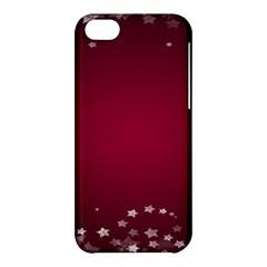 Star Background Christmas Red Apple Iphone 5c Hardshell Case by Onesevenart
