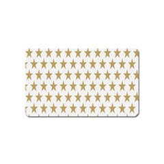 Star Background Gold White Magnet (name Card) by Onesevenart