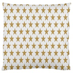 Star Background Gold White Large Cushion Case (one Side) by Onesevenart