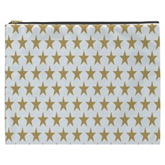 Star Background Gold White Cosmetic Bag (xxxl)  by Onesevenart