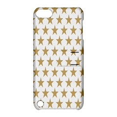 Star Background Gold White Apple Ipod Touch 5 Hardshell Case With Stand by Onesevenart