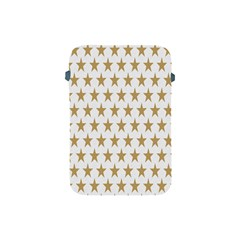 Star Background Gold White Apple Ipad Mini Protective Soft Cases by Onesevenart