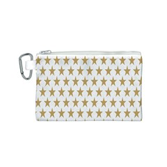 Star Background Gold White Canvas Cosmetic Bag (s) by Onesevenart