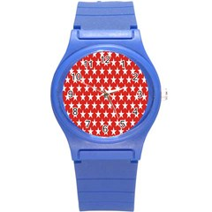 Star Christmas Advent Structure Round Plastic Sport Watch (s) by Onesevenart