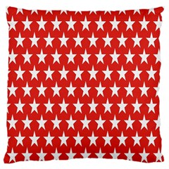 Star Christmas Advent Structure Large Cushion Case (one Side) by Onesevenart