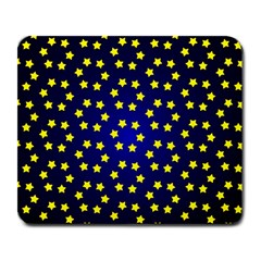 Star Christmas Red Yellow Large Mousepads by Onesevenart