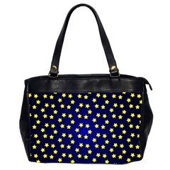Star Christmas Red Yellow Office Handbags (2 Sides)  by Onesevenart