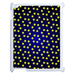 Star Christmas Red Yellow Apple Ipad 2 Case (white) by Onesevenart