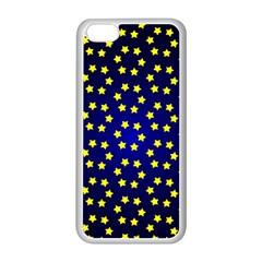 Star Christmas Red Yellow Apple Iphone 5c Seamless Case (white) by Onesevenart