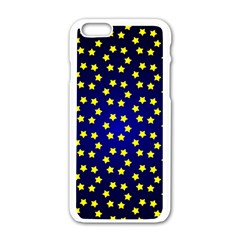 Star Christmas Red Yellow Apple Iphone 6/6s White Enamel Case by Onesevenart