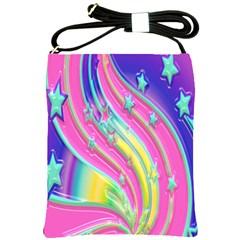 Star Christmas Pattern Texture Shoulder Sling Bags by Onesevenart