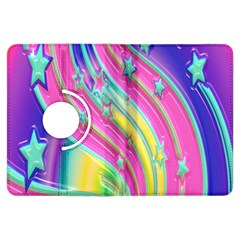 Star Christmas Pattern Texture Kindle Fire Hdx Flip 360 Case by Onesevenart