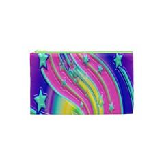 Star Christmas Pattern Texture Cosmetic Bag (xs) by Onesevenart