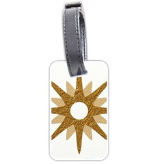 Star Golden Glittering Yellow Rays Luggage Tags (one Side)  by Onesevenart